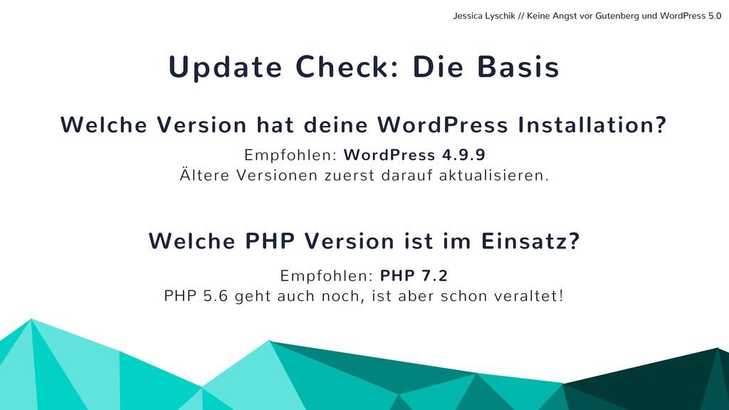 Update Check: Die Basis Welche Version hat dein...