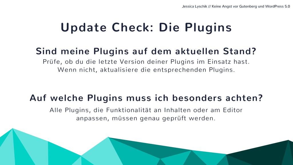 Update Check: Die Plugins Sind meine Plugins au...