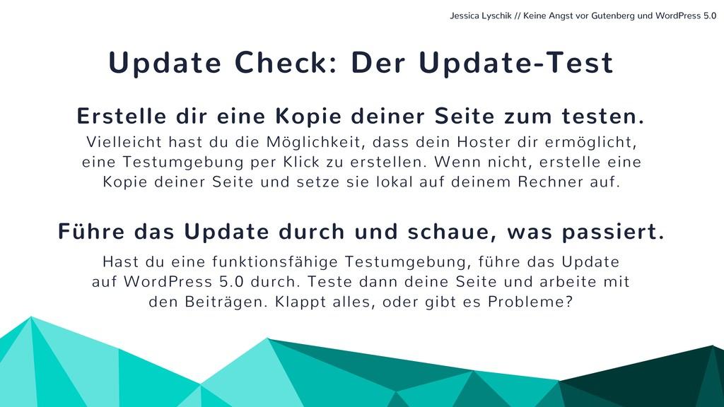 Update Check: Der Update-Test Erstelle dir eine...