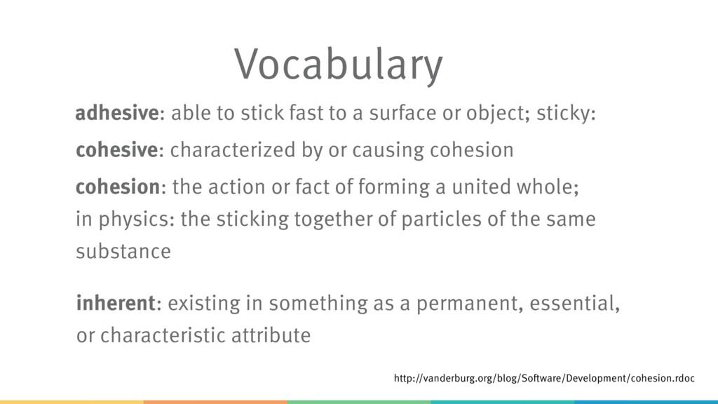 Vocabulary http://vanderburg.org/blog/Software/...