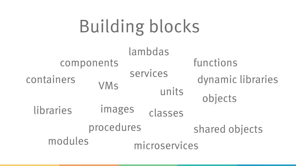 Building blocks procedures functions libraries ...