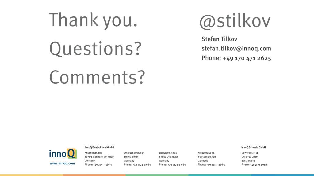 Stefan Tilkov stefan.tilkov@innoq.com Phone: ...