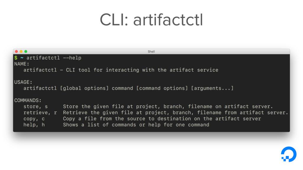 CLI: artifactctl