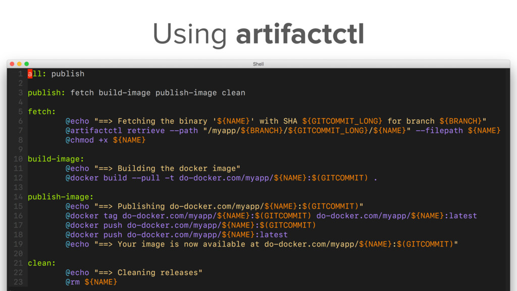 Using artifactctl