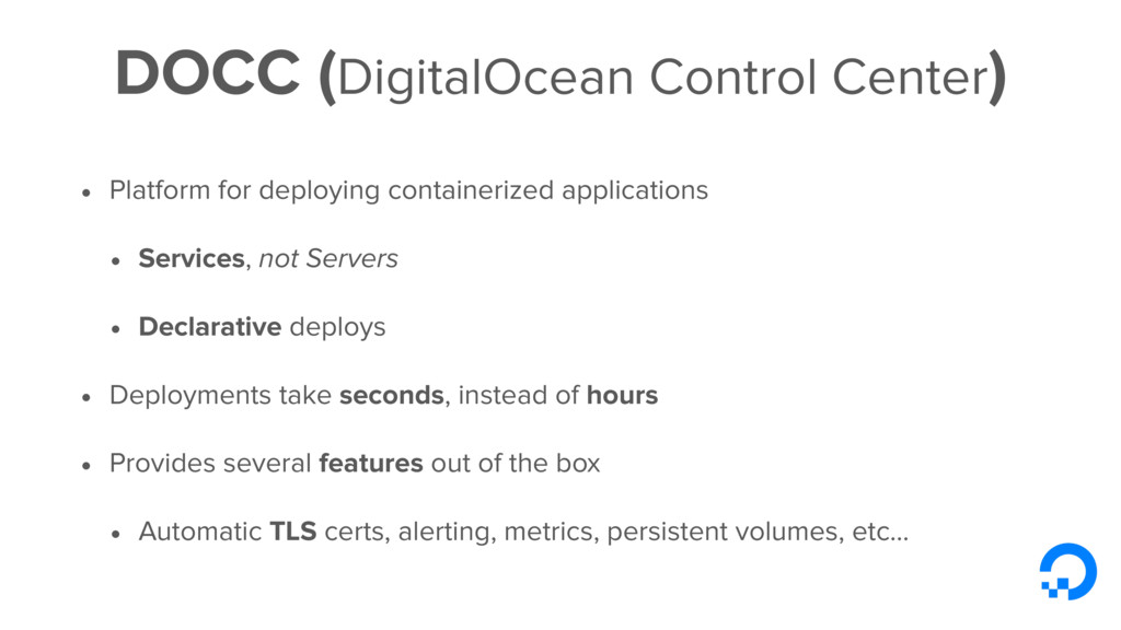 DOCC (DigitalOcean Control Center) • Platform f...