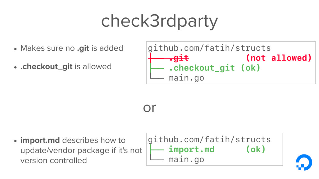 check3rdparty • Makes sure no .git is added • ....