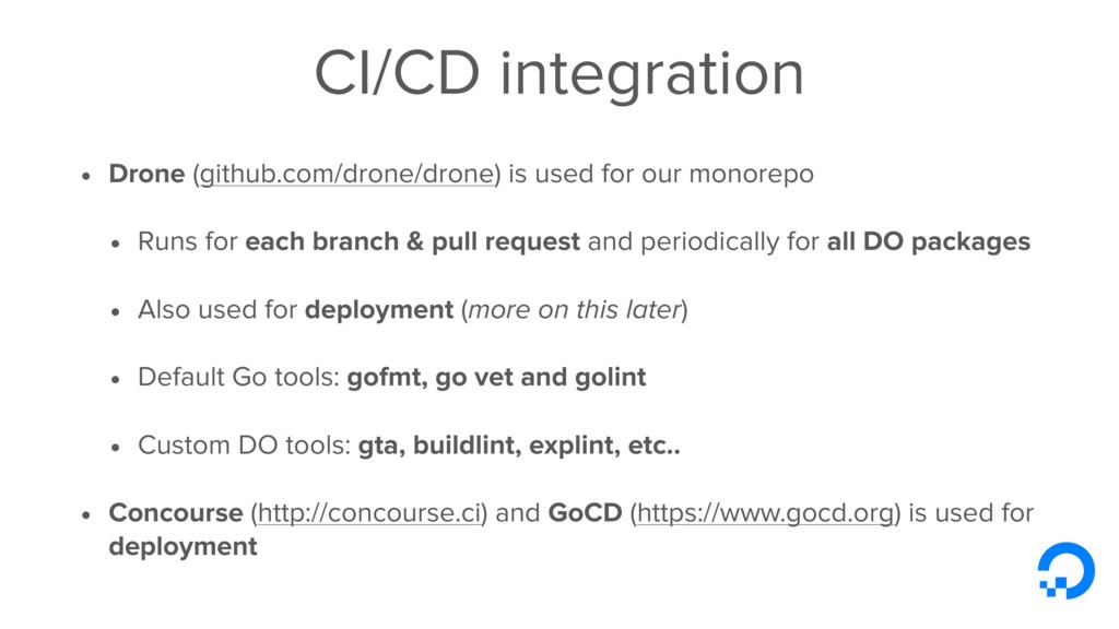 CI/CD integration • Drone (github.com/drone/dro...