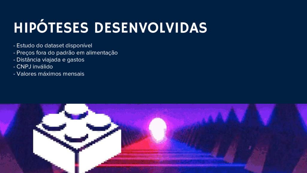 HIPÓTESES DESENVOLVIDAS - Estudo do dataset dis...