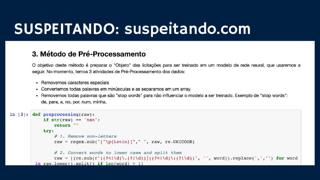SUSPEITANDO: suspeitando.com