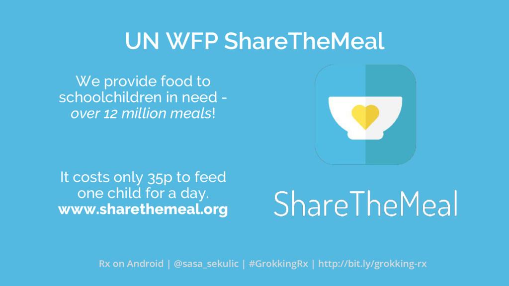 UN WFP ShareTheMeal We provide food to schoolch...