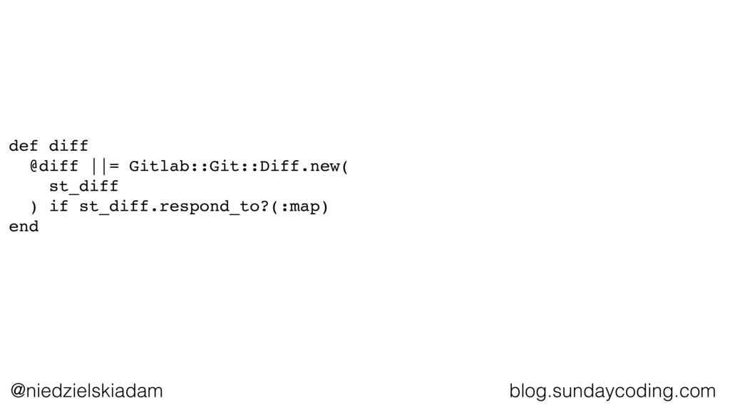 @niedzielskiadam blog.sundaycoding.com def diff...