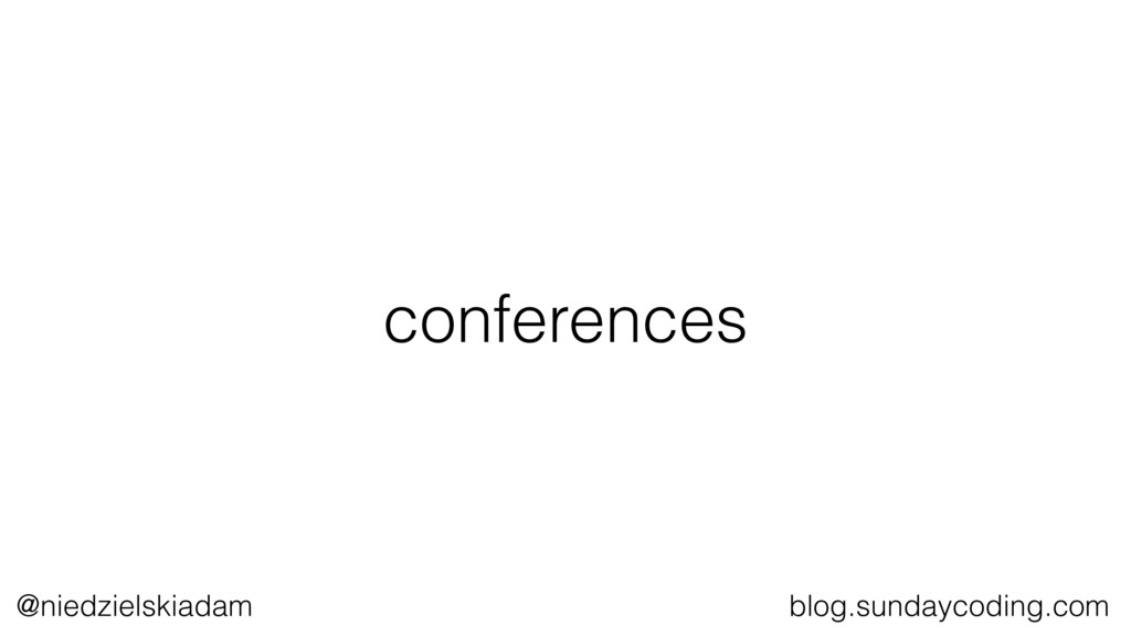 @niedzielskiadam blog.sundaycoding.com conferen...