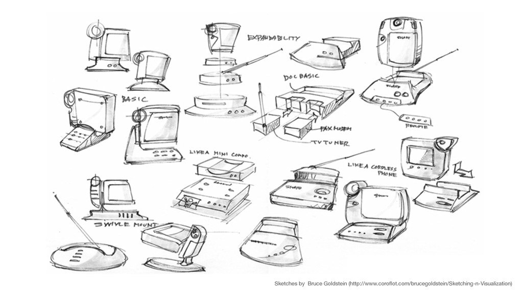 Sketches by Bruce Goldstein (http://www.coroflot...