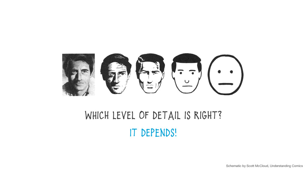 WHich level of detail is right? It depEnds! Sch...