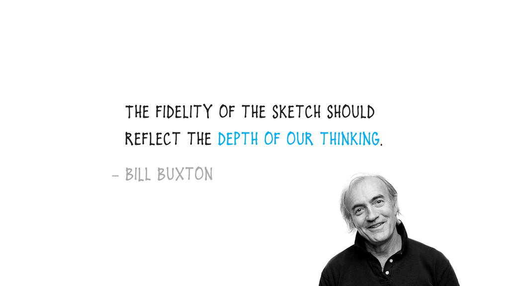 The fidelity of the sketch should reflect the d...
