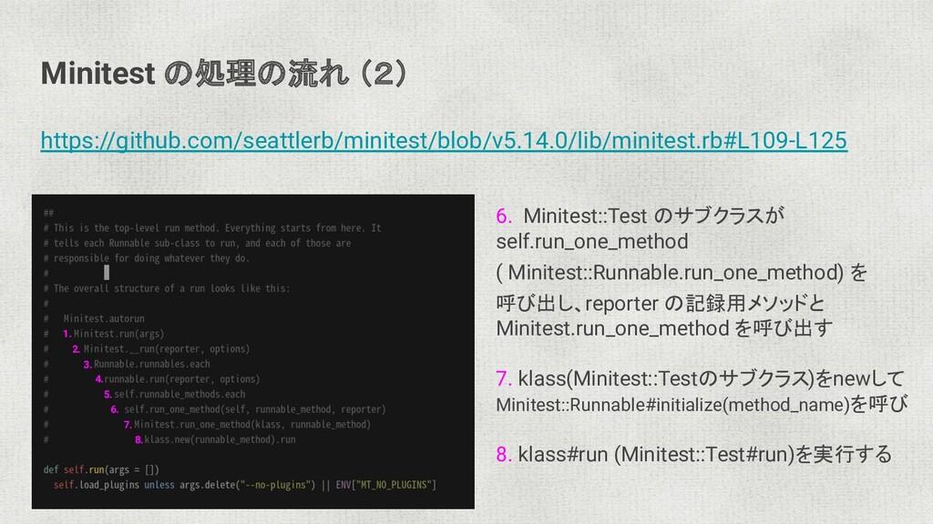 Minitest の処理の流れ (2) https://github.com/seattler...