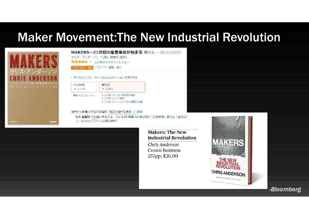 Maker Movement:The New Industrial Revolution -B...