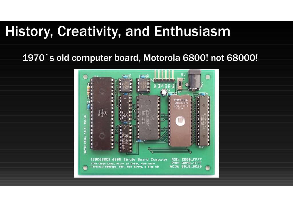 1970`s old computer board, Motorola 6800! not 6...