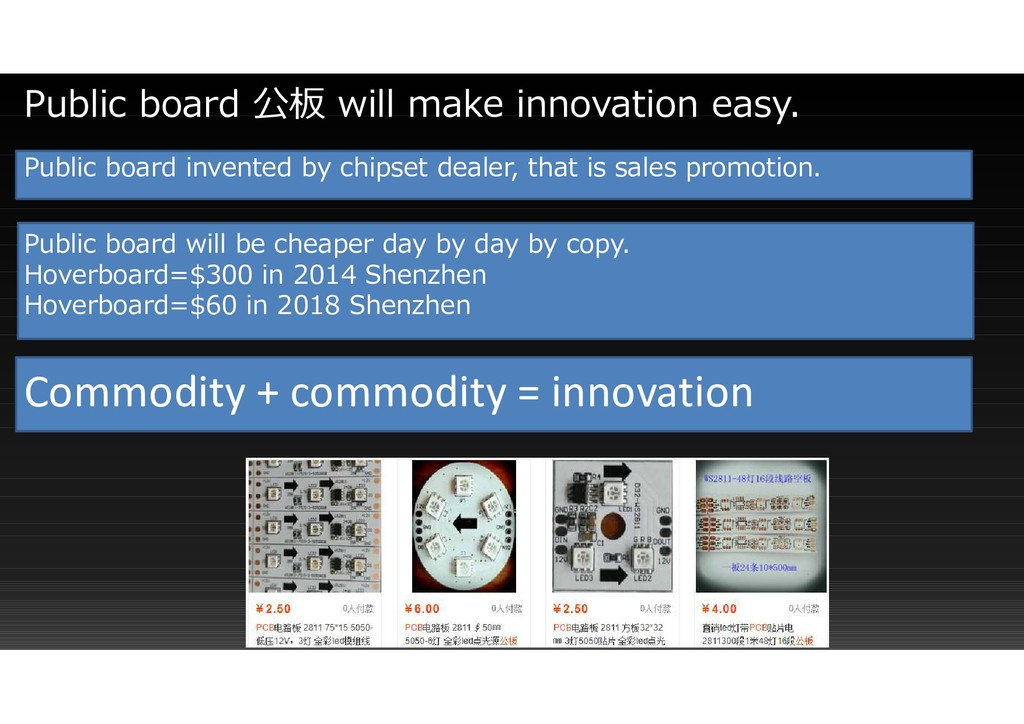 Public board invented by chipset dealer, that i...