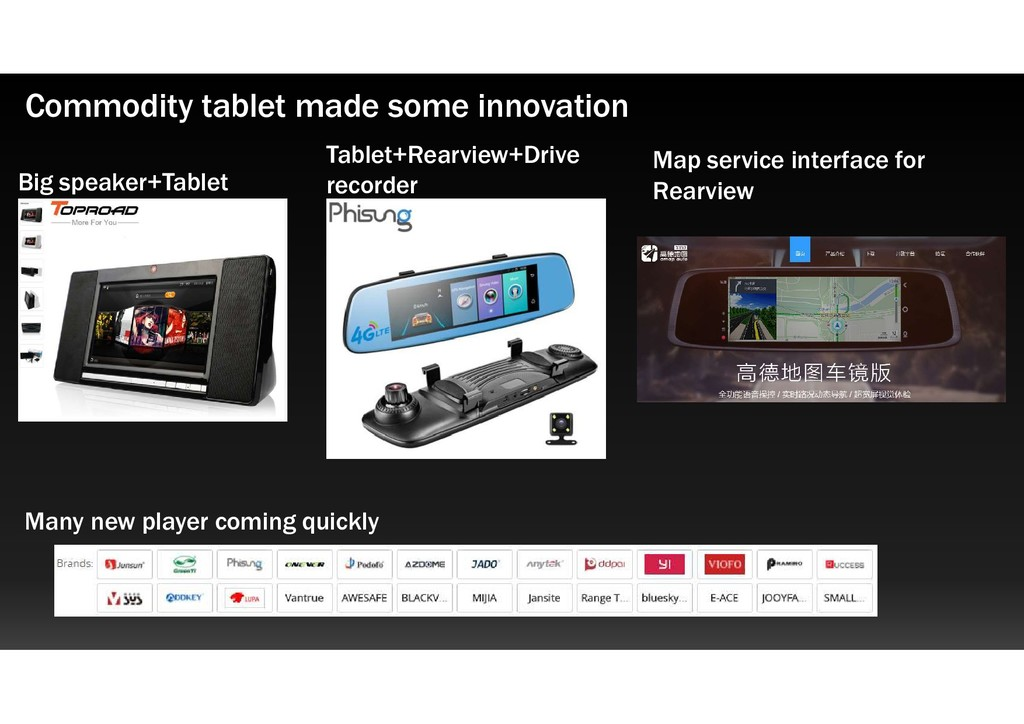 Commodity tablet made some innovation Big speak...