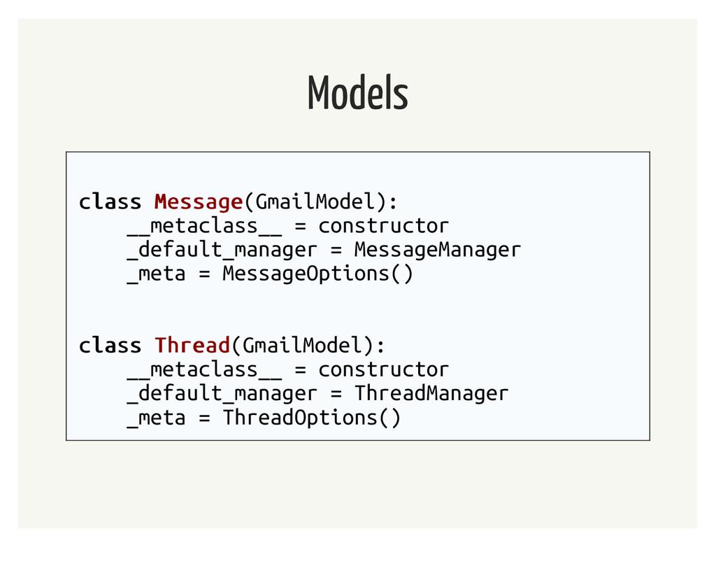 Models class class Message Message(GmailModel):...