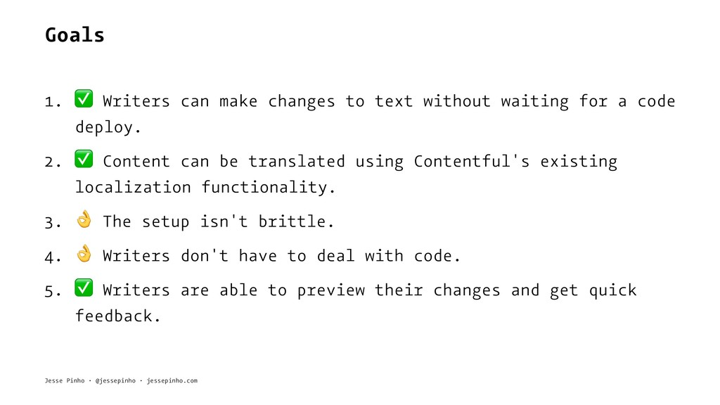 Goals 1. ✅ Writers can make changes to text wit...