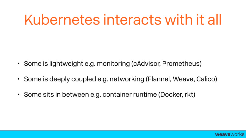 weaveworks- Kubernetes interacts with it all • ...