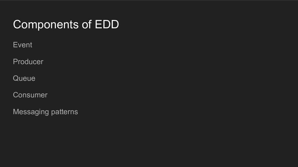 Components of EDD Event Producer Queue Consumer...