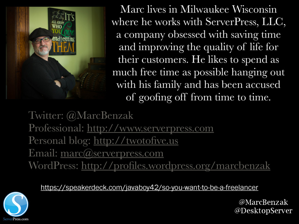 @MarcBenzak @DesktopServer Marc lives in Milwau...