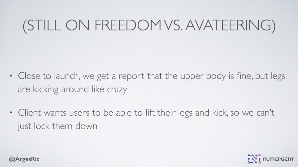@ArgesRic (STILL ON FREEDOM VS. AVATEERING) • C...