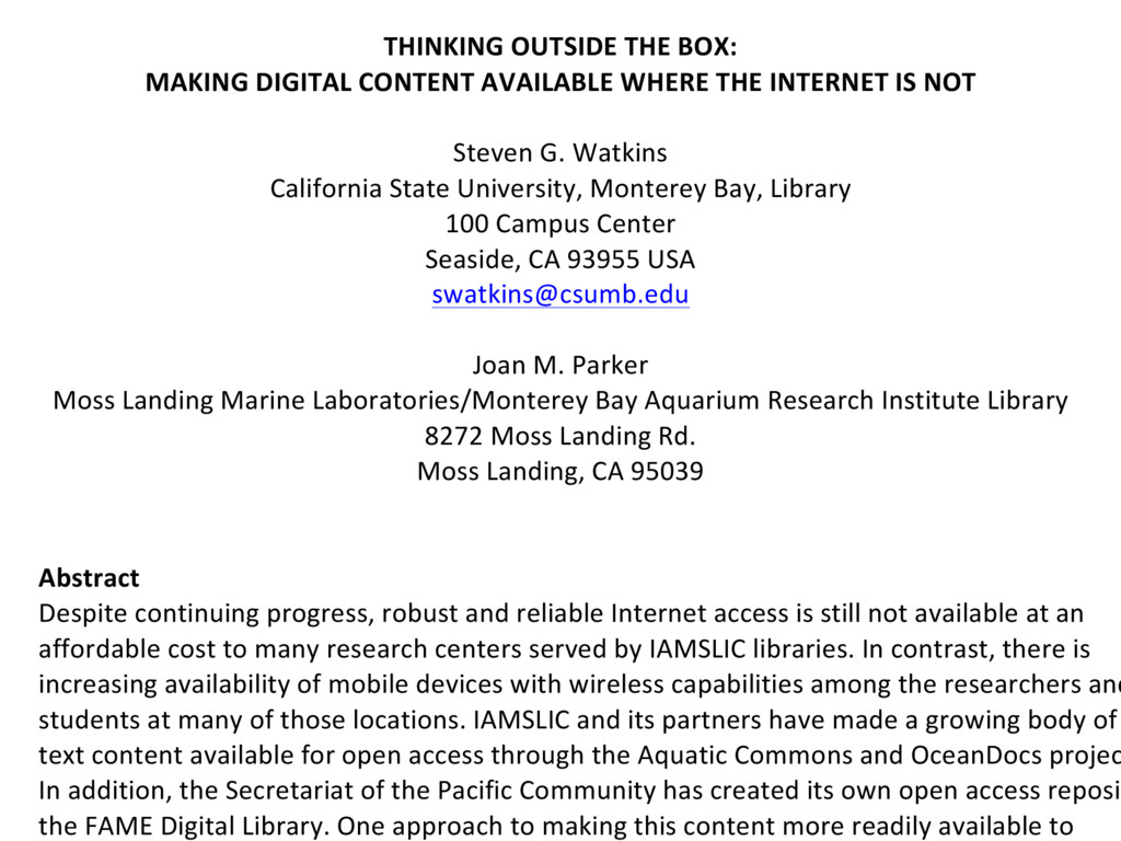 ' THINKING'OUTSIDE'THE'BOX:' MAKING'DIGITAL'CON...