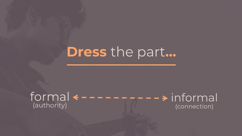 Dress the part… ________________ informal (conn...