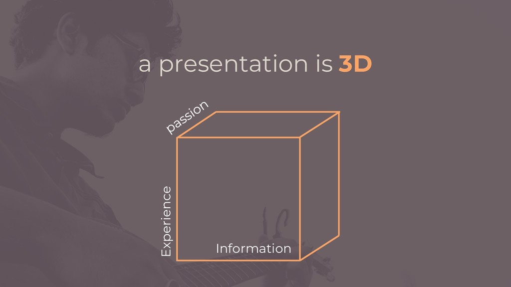 Information Experience a presentation is 3D