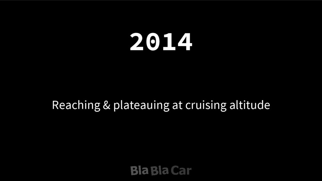 Reaching & plateauing at cruising altitude 2014