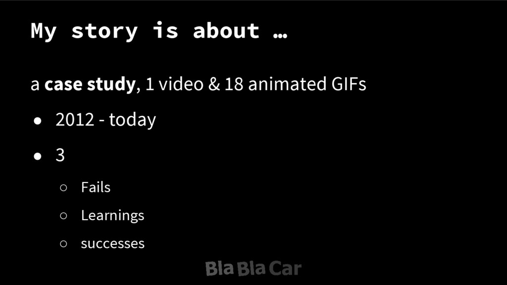 My story is about … a case study, 1 video & 18 ...
