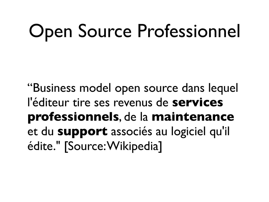 "Open Source Professionnel ""Business model open ..."