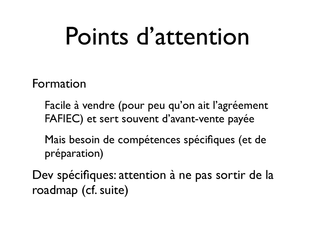 Points d'attention Formation Facile à vendre (p...