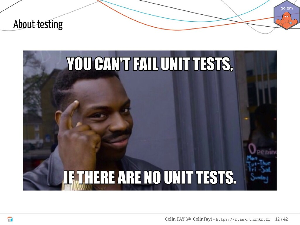 About testing Colin FAY (@_ColinFay) - https://...