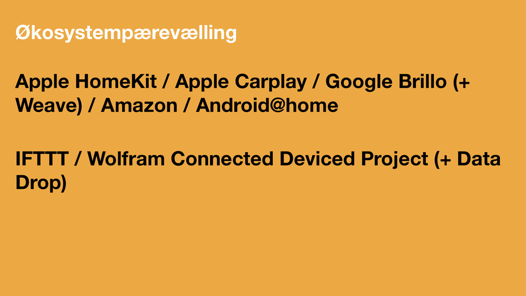 Økosystempærevælling Apple HomeKit / Apple Carp...