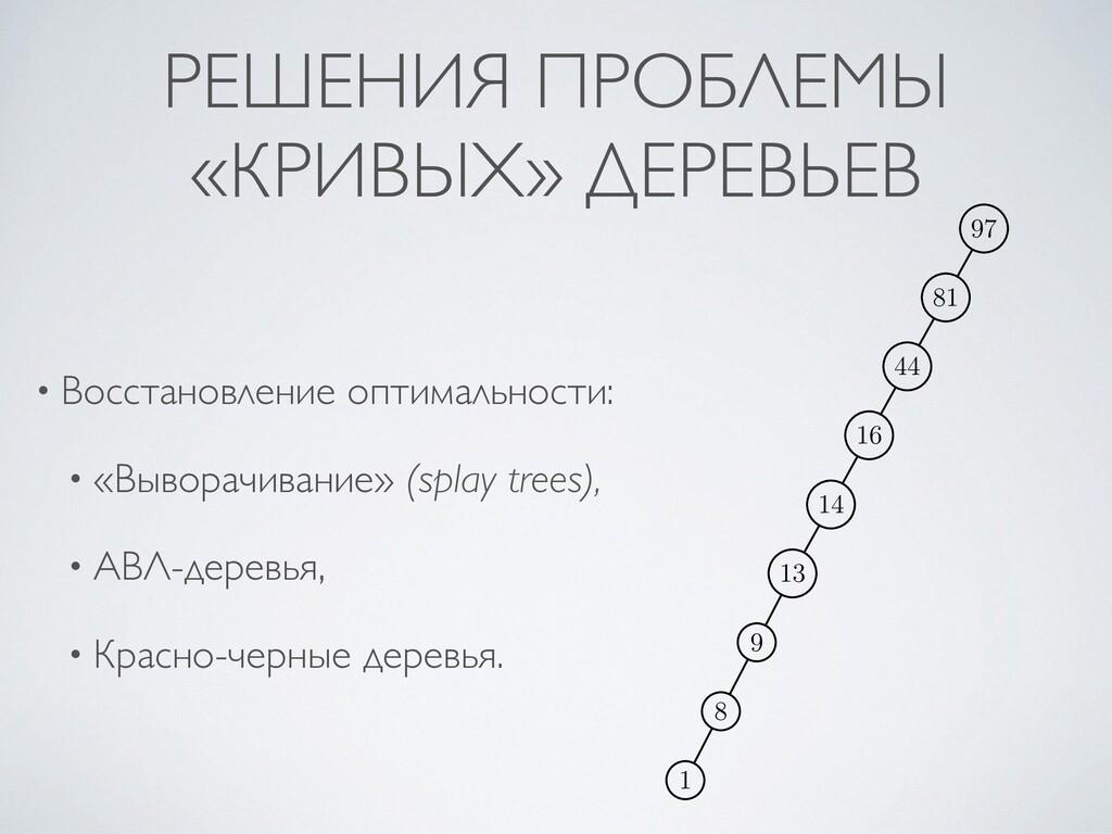 РЕШЕНИЯ ПРОБЛЕМЫ «КРИВЫХ» ДЕРЕВЬЕВ • Восстановл...