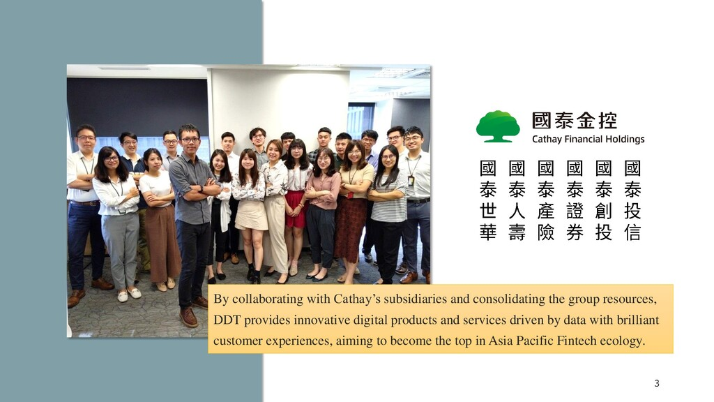 By collaborating with Cathay's subsidiaries and...