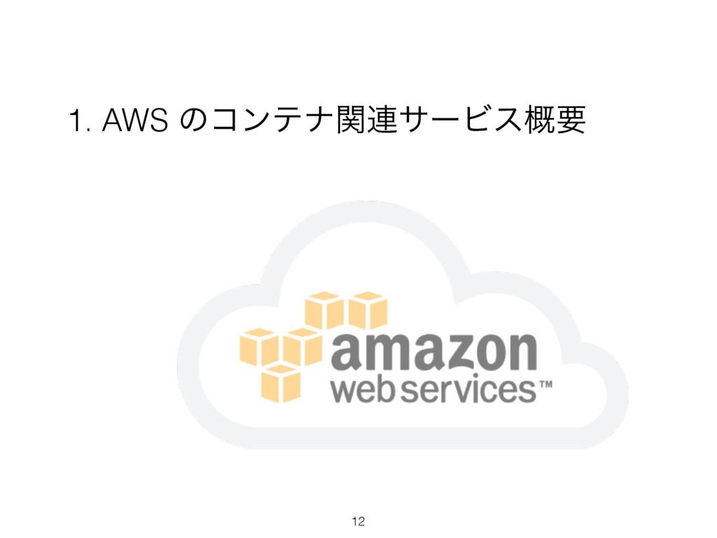 1. AWS ͷίϯςφؔ࿈αʔϏε֓ཁ 12