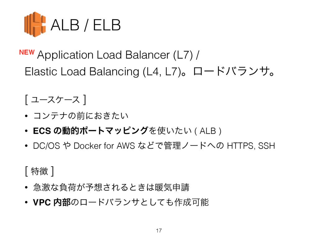 ALB / ELB Application Load Balancer (L7) / Elas...