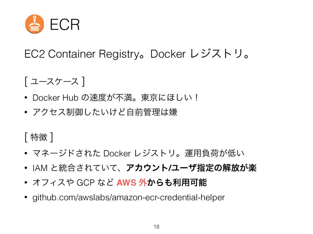 ECR EC2 Container RegistryɻDocker ϨδετϦɻ [ Ϣʔεέ...