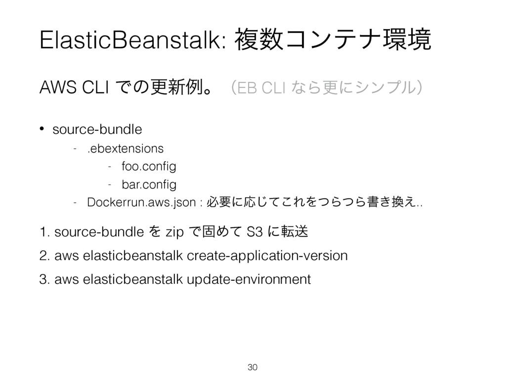 ElasticBeanstalk: ෳίϯςφڥ AWS CLI Ͱͷߋ৽ྫɻʢEB CL...