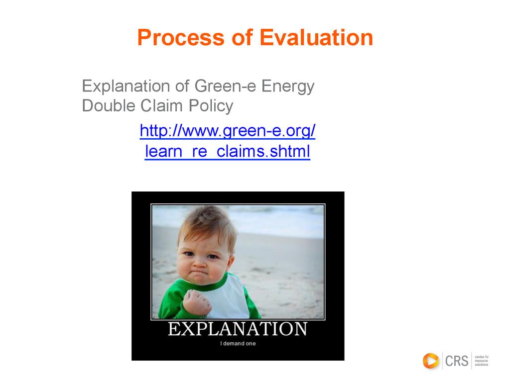 Explanation of Green-e Energy Double Claim Poli...