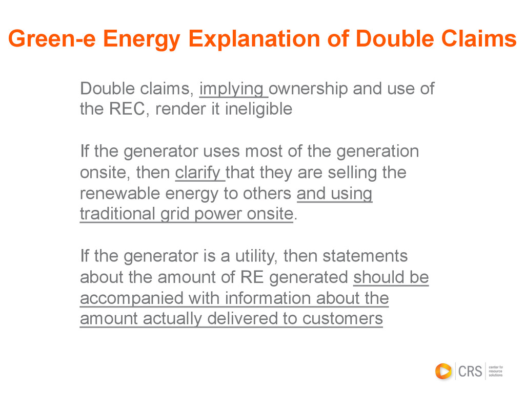 Double claims, implying ownership and use of th...