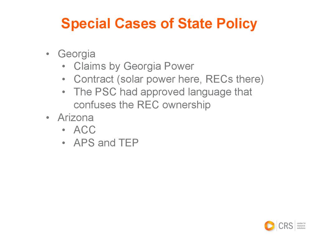 • Georgia • Claims by Georgia Power • Contra...