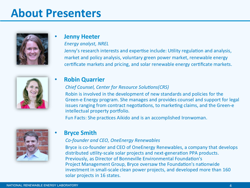 4  About Presenters  • Jenny Heete...