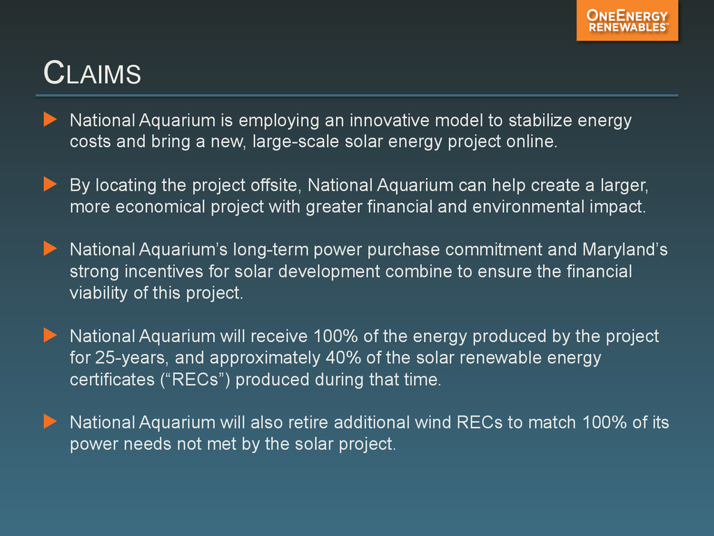 CLAIMS ▶ National Aquarium is employing an inn...